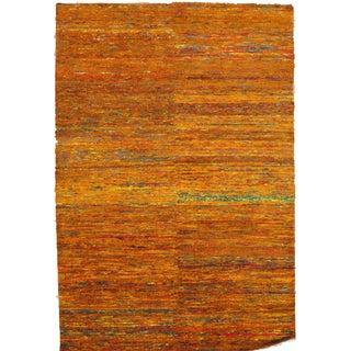Orange Sari-Silk Modern Rug - 9' X 12'