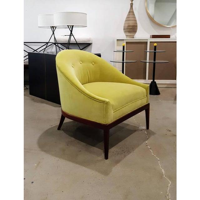 1960s Chartruese Velvet Slipper Chair Chairish