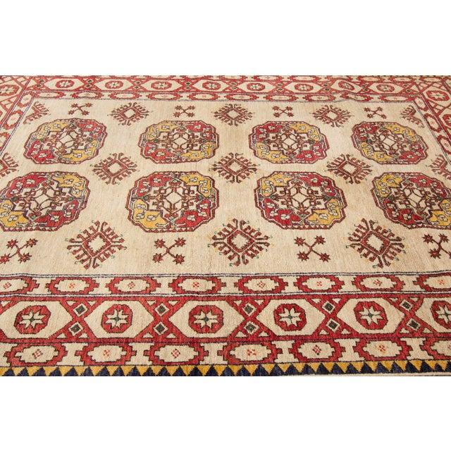 "Vintage Red & Tan Apadana Persian Rug- 6'5"" X 9'7"" - Image 6 of 6"