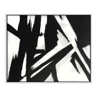 """Black Slash No. 1"" Framed Print"