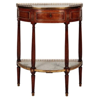 French Louis XVI Style Demilune Serving Table