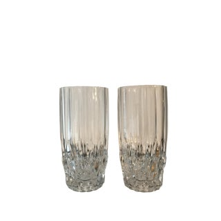 Vintage Lead Crystal Glass Tumblers - A Pair