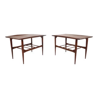 Mid-Century Modern Walnut End Tables by Basset Furniture Company