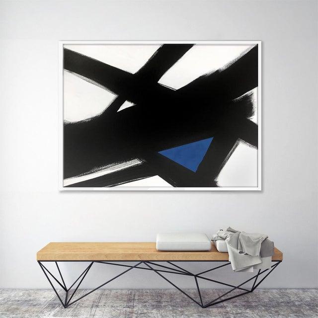 """Black Slash No. 4 Blue"" Original Painting - Image 3 of 3"