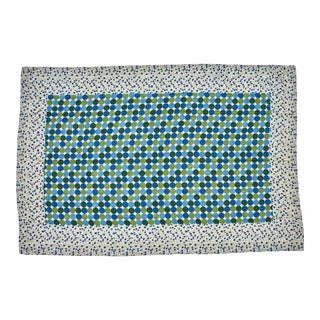Reversible Hand-Stitched Indian Kantha Patchwork Throw Blanket
