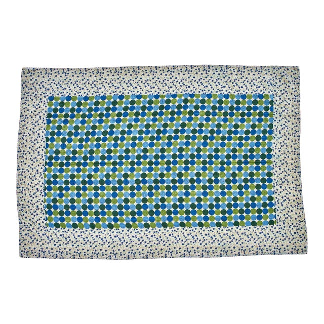 Reversible Hand-Stitched Indian Kantha Patchwork Throw Blanket - Image 1 of 3