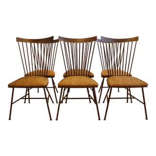 1950s Modern Steel Dining Chairs - Set of 6