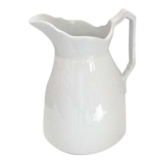 19th Century English Ironstone Meakin Pitcher