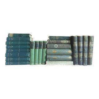 Green Antique Book Collection - Set of 22