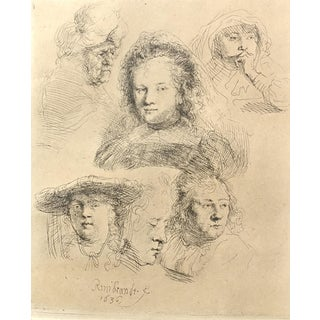 Rembrandt 1636 Etching on Paper