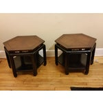 Image of Hollywood Regency Hexagonal End Tables - a Pair