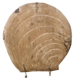 Large Wooden Clam Shell