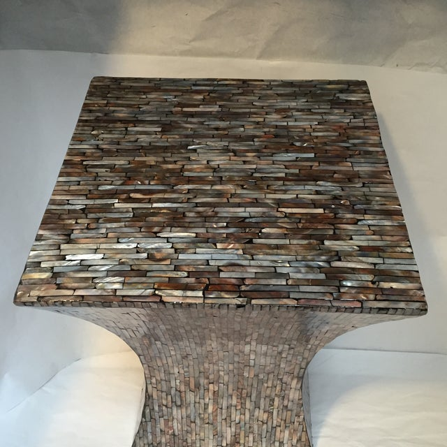 Abalone Shell Mosaic Table - Image 4 of 8