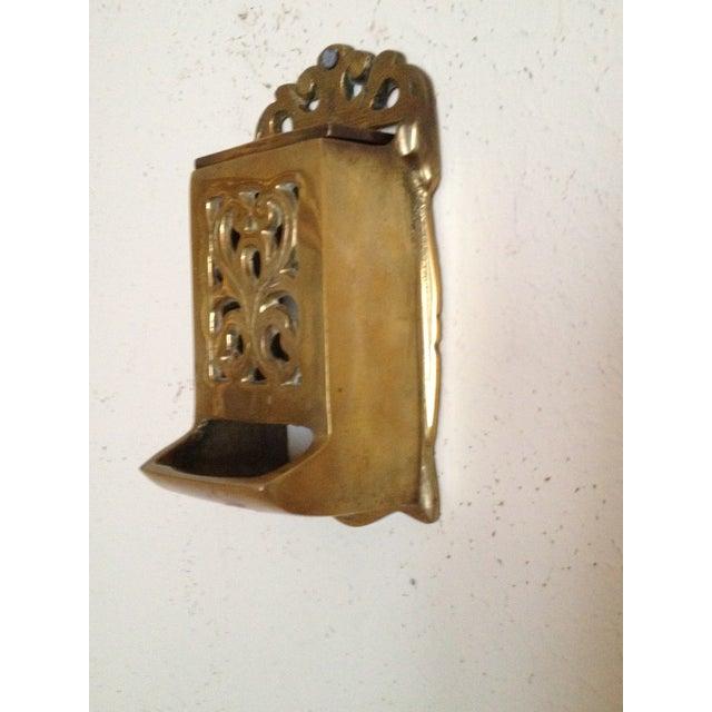 Vintage Brass Match Holder - Image 4 of 4