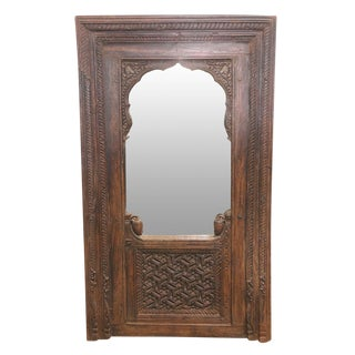Antique Indian Mudejar Arch Mirror