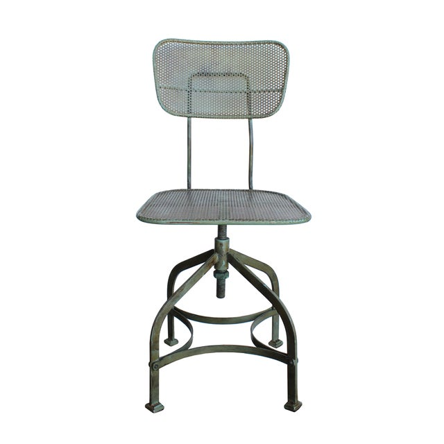 Adjustable Perforated Factory Chair - Image 1 of 3