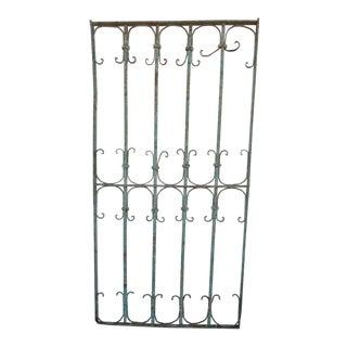 Antique Victorian Verdigris Iron Gate or Garden Fence Element