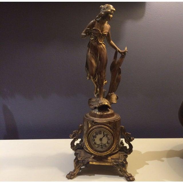 Bronze Sculptural Clock - Image 2 of 8