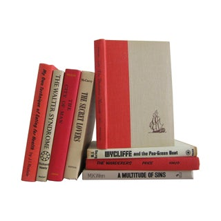 Bold Red & Tan Book Collection - Set of 8