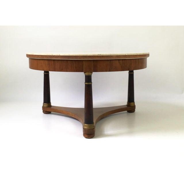 Hollywood Regency Marble Top Coffee Table - Image 4 of 9