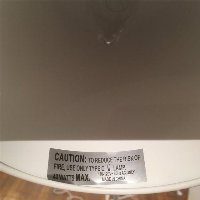 Modern White Metal & Teak Floor Lamp - Image 8 of 9
