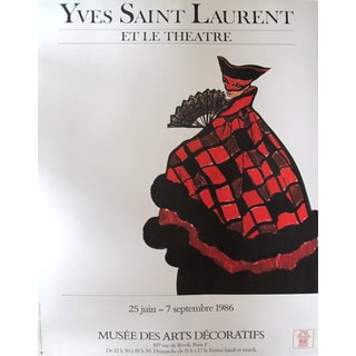 Vintage Yves Saint Laurent Fashion Poster