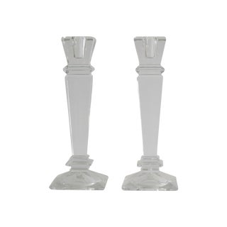 Crystal Candlesticks - A Pair
