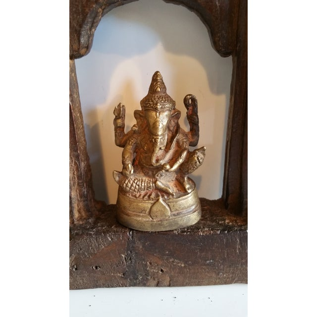 19th Century Carved Wood Shrine - Image 3 of 5