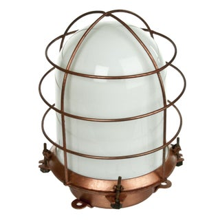 Refurbished Vintage Dock or Ship Deck Lamp