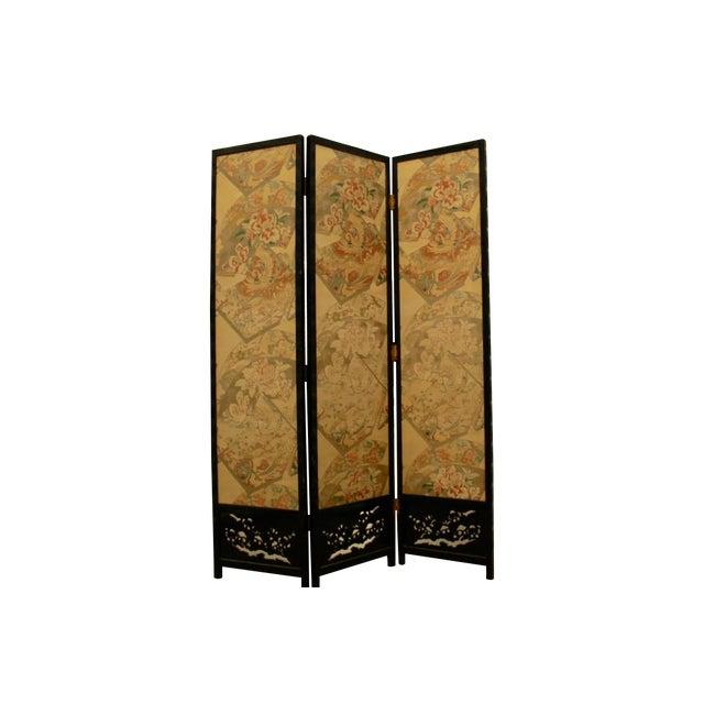 Japanese Byobu Folding Screen With Silk Panels - Image 1 of 8