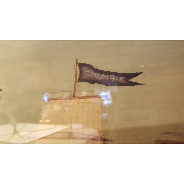 Image of Mary Maguire Nautical Ship Watercolor Painting