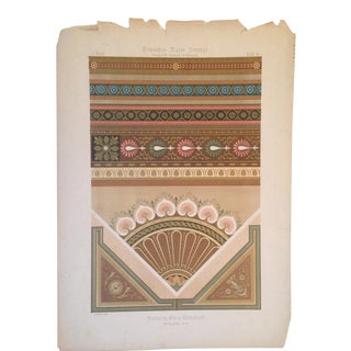 German Architectural Decorative Deutsches Maler Journal Chromolithograph