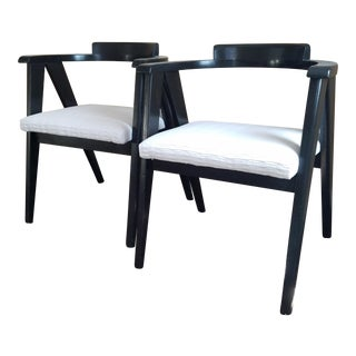 Allan Gould Compass Chairs - A Pair