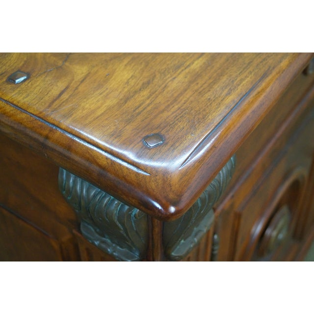 Quality Solid Mahogany Rustic Continental Server - Image 10 of 10