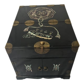 Korean Lacquer & Bronze Inlaid Box