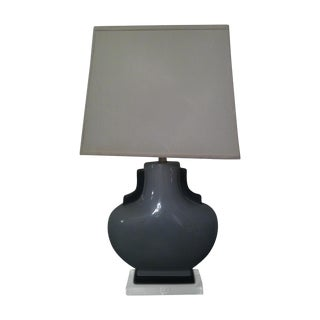 Stylish Contempory Grey Deco Lamp