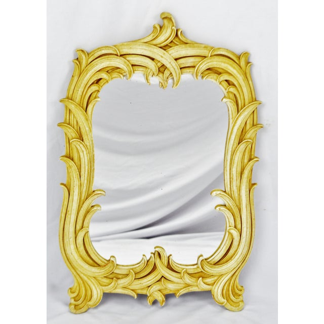 Vintage Syroco Wood Framed Wall Mirror - Antique White ...