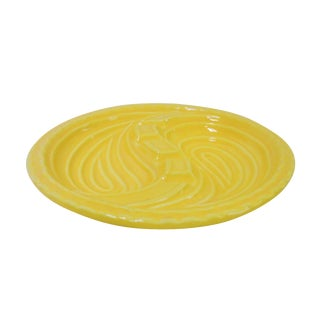 Mid-Century Modern Atomic Yellow Ashtray Dish