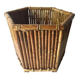 Vintage Rattan Bamboo Planter