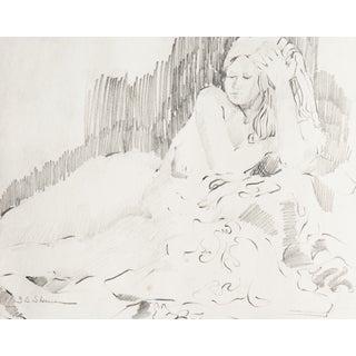 B. C. Sherman Reclining Nude Drawing