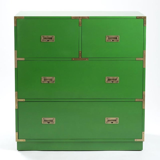 Image of Campaign Style Emerald Green Dresser