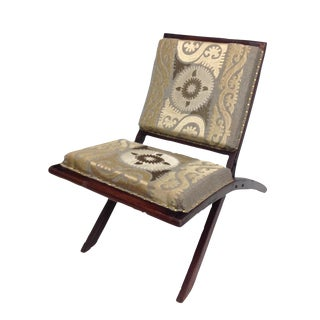 Suzani Embroidered Wood Folding Chair