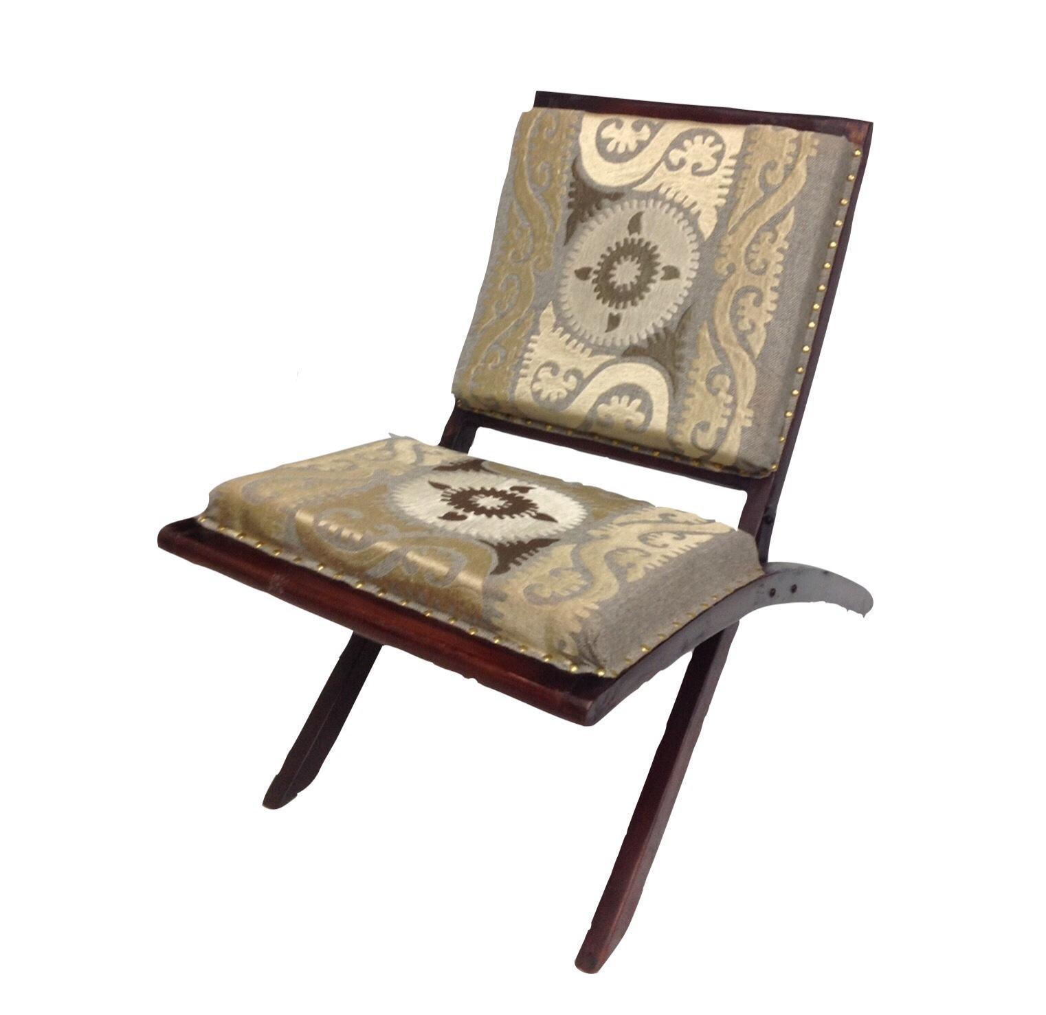 suzani embroidered wood folding chair chairish