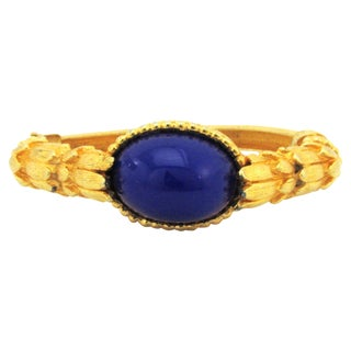 1960s Kenneth Jay Lane Bracelet with Lapis