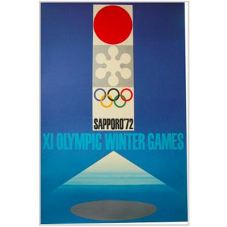 1972 Original Sapporo Olympic Games Poster