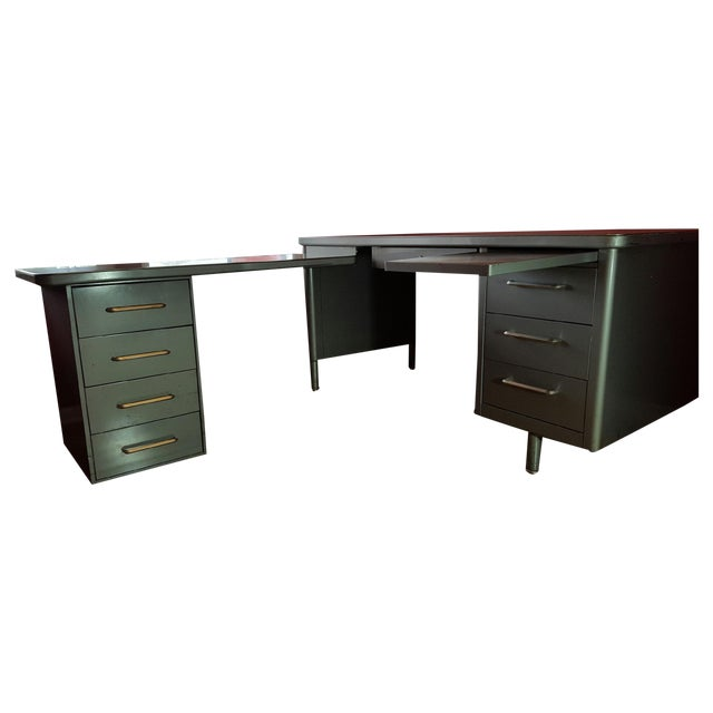 Steelcase Tanker Desk with Return - Image 7 of 9