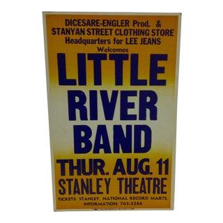 """""""Little River Band"""" Vintage Concert Poster"""