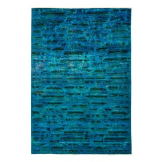 "Vibrance Over Dyed Hand Knotted Area Rug - 6'1"" X 8'9"""