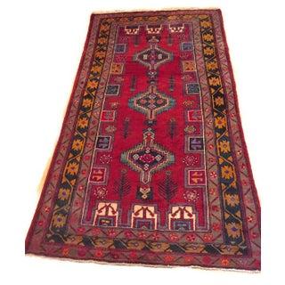 Vintage Turkish Rug Hand Knotted Wool Anatolian Rug - 5′6″ × 9′9″