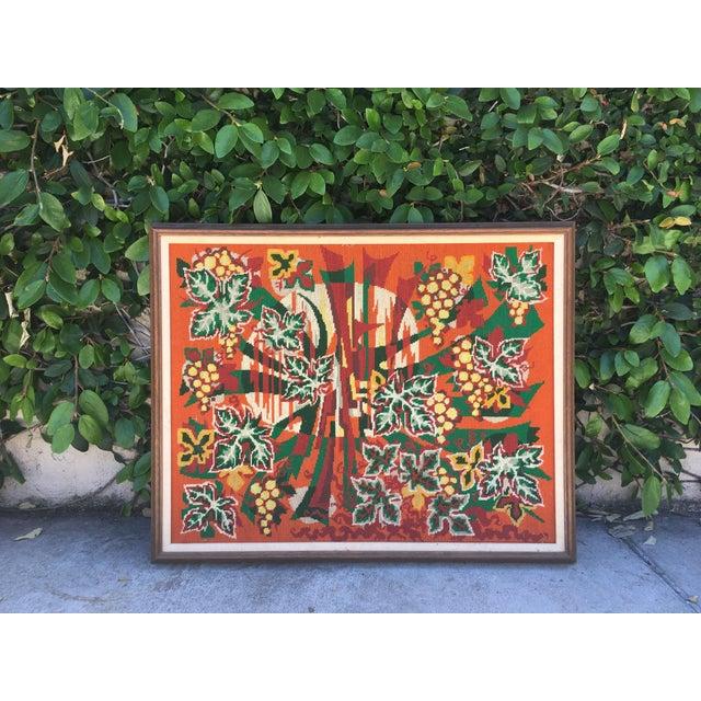 Colorful Jungle Inspired Needlepoint - Image 2 of 6